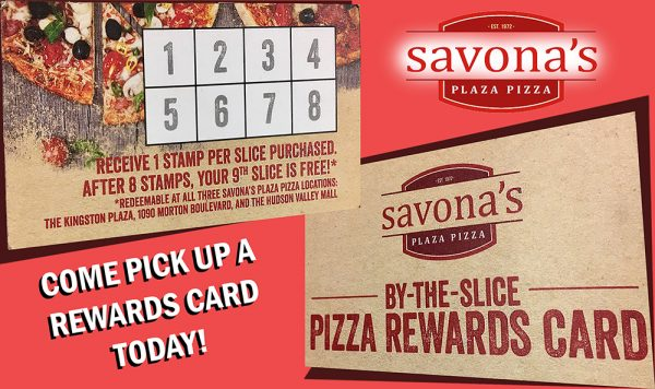Come Pick Up Your Pizza Rewards Card Today!