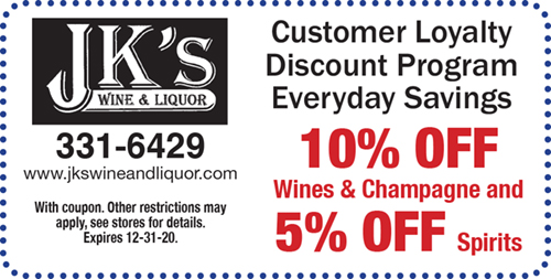 10% Off Wines & Champagne and 5% off Spirits