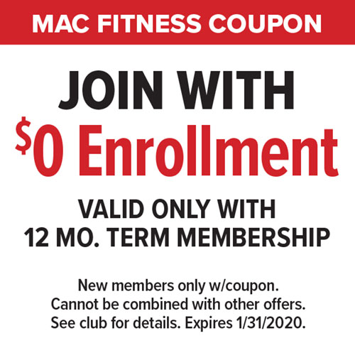 $0 Enrollment at Mac Fitness