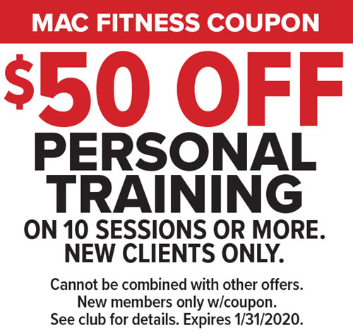 $50 Off Personal Training at Mac Fitness