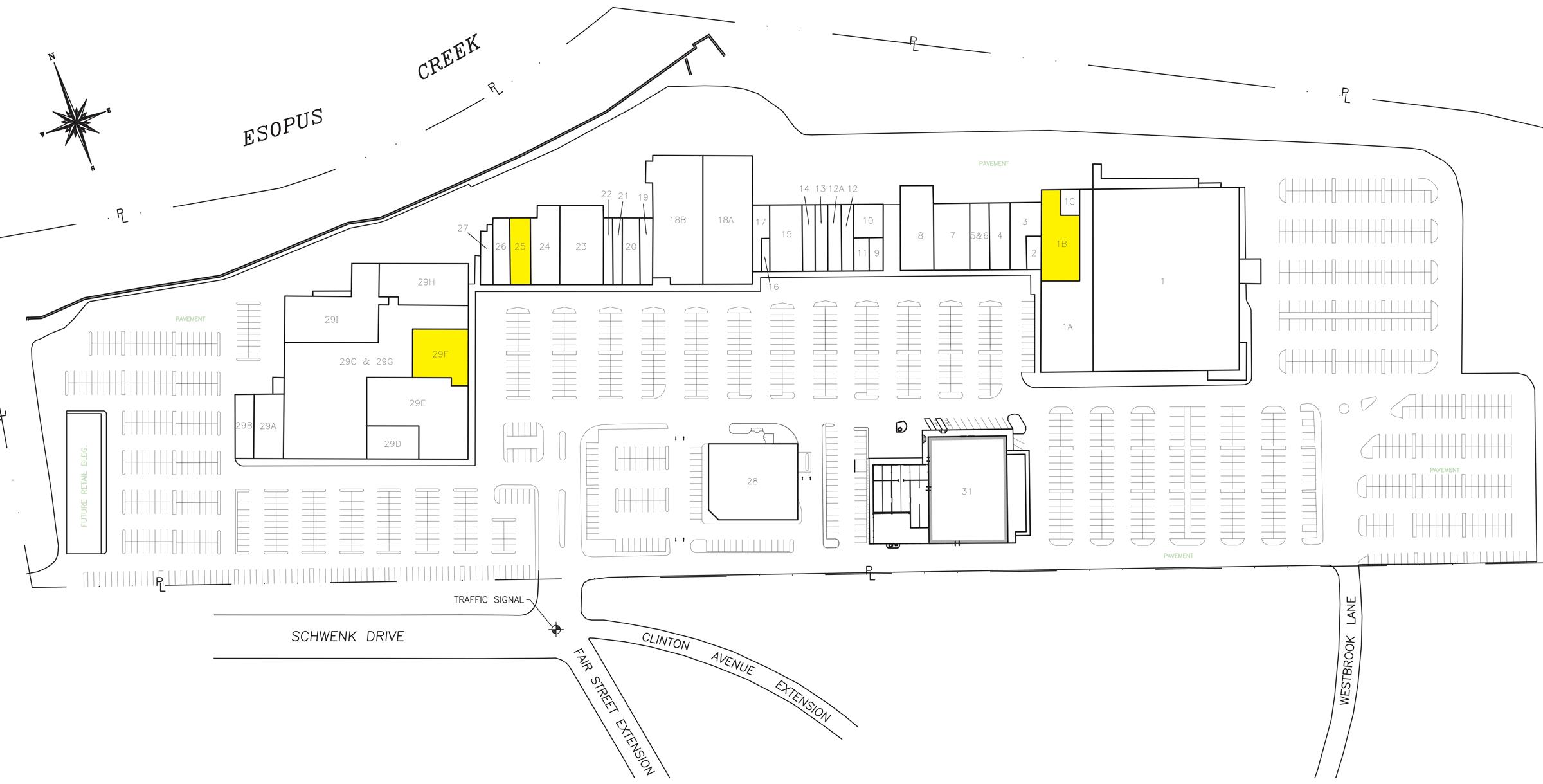 Kingston Plaza Map and Key