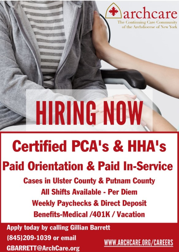Hiring Now! Certified PCA's & HHA's