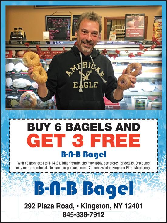Buy 6 Bagels, Get 3 Free