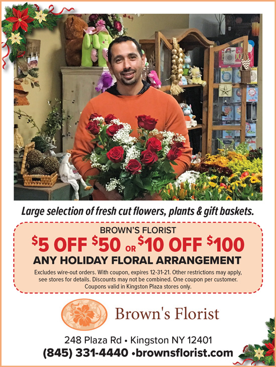$5 Off $10 or $10 Off $100 – Any Holiday Floral Arrangement