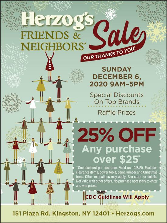 Herzog's Friends & Neighbors Sale