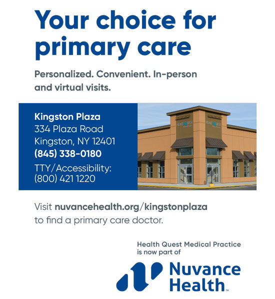 In-Person and Virtual Visits at Health Quest Medical Practice, P.C. Kingston Primary Care in the Kingston Plaza
